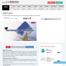 NMAT 2016 Analysis