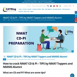 NMAT CD & PI – TIPS by NMAT Toppers and NMIMS Alumni