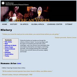 NMNH African Voices: History