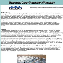 Heliostat Project