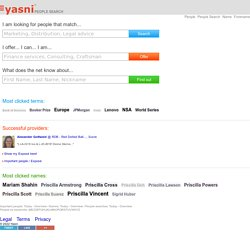 yasni.com | No. 1 free people search - Find anyone on the web
