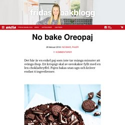 No bake Oreopaj