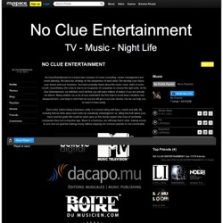 NO CLUE ENTERTAINMENT sur Myspace