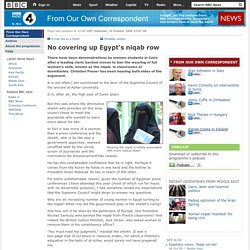 No covering up Egypt's niqab row