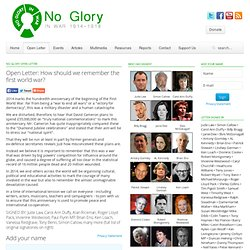 No Glory Open Letter