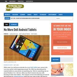 No More Dell Android Tablets