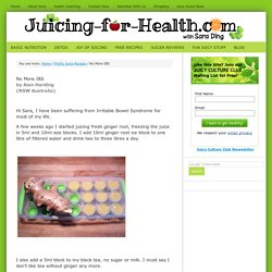 No More IBS — Juicing For Health