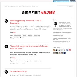 No More Street Harassment