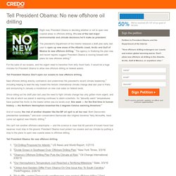 No new offshore oil drilling