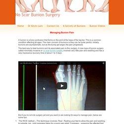 No Scar Bunion Surgery