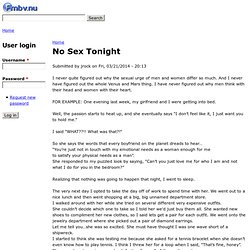 No Sex Tonight | FMBV