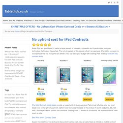 No upfront cost for iPad Contracts