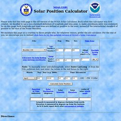 Solar Position Calculator