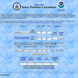 Solar Position Calculator