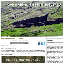Noah's Ark Discovered - Again