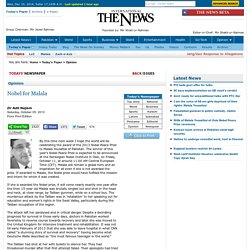 Nobel for Malala - Dr Adil Najam