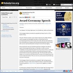 The Nobel Peace Prize 1979 - Presentation Speech