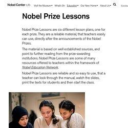 Nobel Prize Lessons – Nobel Center