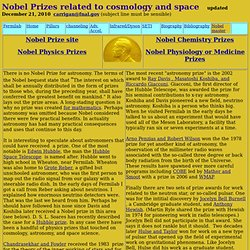 Nobel prizes in cosmology and space