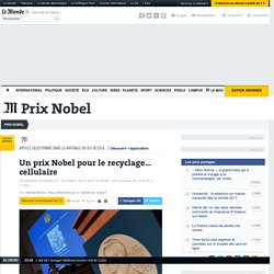 Un prix Nobel pour le recyclage… cellulaire
