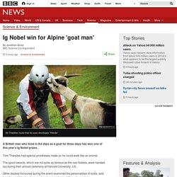 Ig Nobel win for Alpine 'goat man'