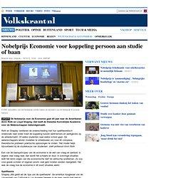 Nobelprijs Economie voor 'matching' aan studie of baan - Buitenland