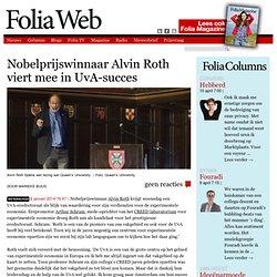 Nobelprijswinnaar Alvin Roth viert mee in UvA-succes