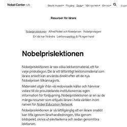 Nobelprislektionen – Nobel Center