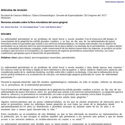 Nociones actuales sobre la flora microbiana del surco gingival