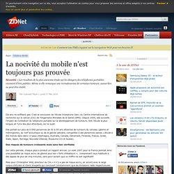 La nocivité du mobile n'est toujours pas prouvée - Actualités -