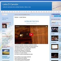 Noctem - Loreto Sesma - Letra D Canción