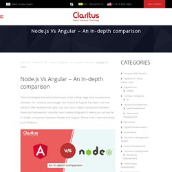 Node.js Vs Angular – An in-depth comparison