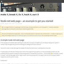 Node-red web page - an example to get you started