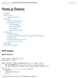 Node.js Basics - bl.ocks.org
