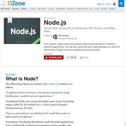 Node.js - DZone - Refcardz