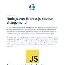 Node.js avec Express.js, tout un changement!