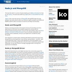 Node.js and MongoDB