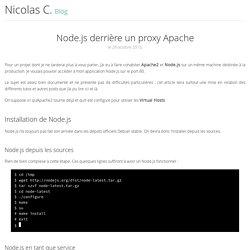 Node.js derrière un proxy Apache