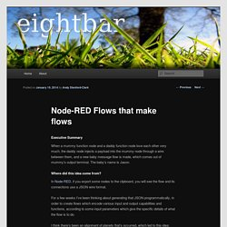 Node-RED Flows that make flows