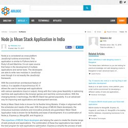 Node js Mean Stack Application in India