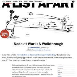 Node at Work: A Walkthrough