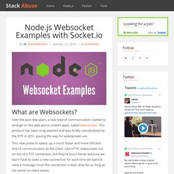 Node.js Websocket Examples with Socket.io