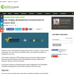 Setup nodejs development environment in Amazon EC2
