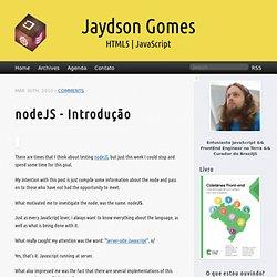 node js introduçao