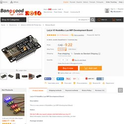 LoLin V3 NodeMcu Lua WIFI Development Board Sale-Banggood.com