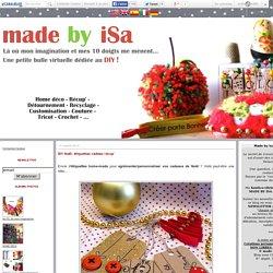 DIY Noël: étiquettes cadeau récup' - made by iSa
