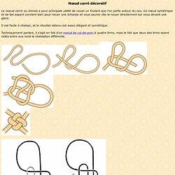 Nœud carré décoratif