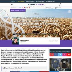 NoFakeScience : 250 scientifiques, vulgarisateurs et citoyens alertent sur le traitement des médias de l'information scientifique