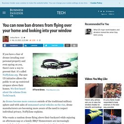 NoFlyZone prevents drones from flying over individual property