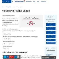 nofollow for legal pages - TermsFeed